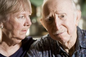 Portrait of Worried Senior Couple